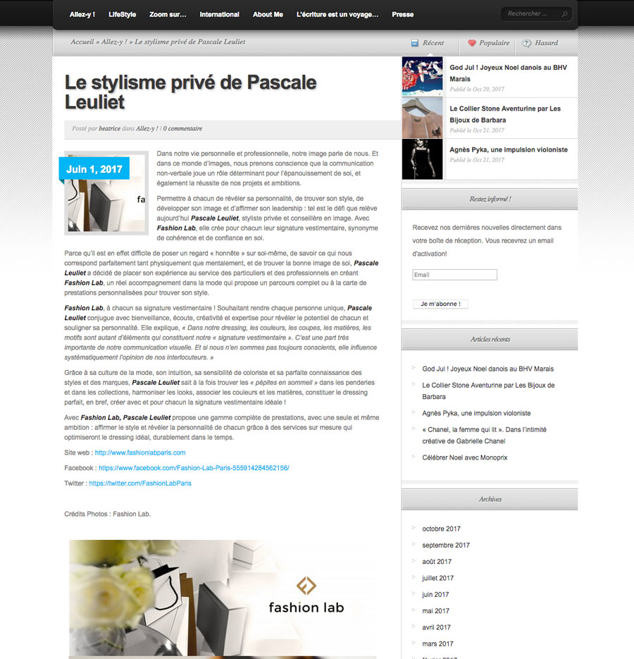 article Assistante Plus