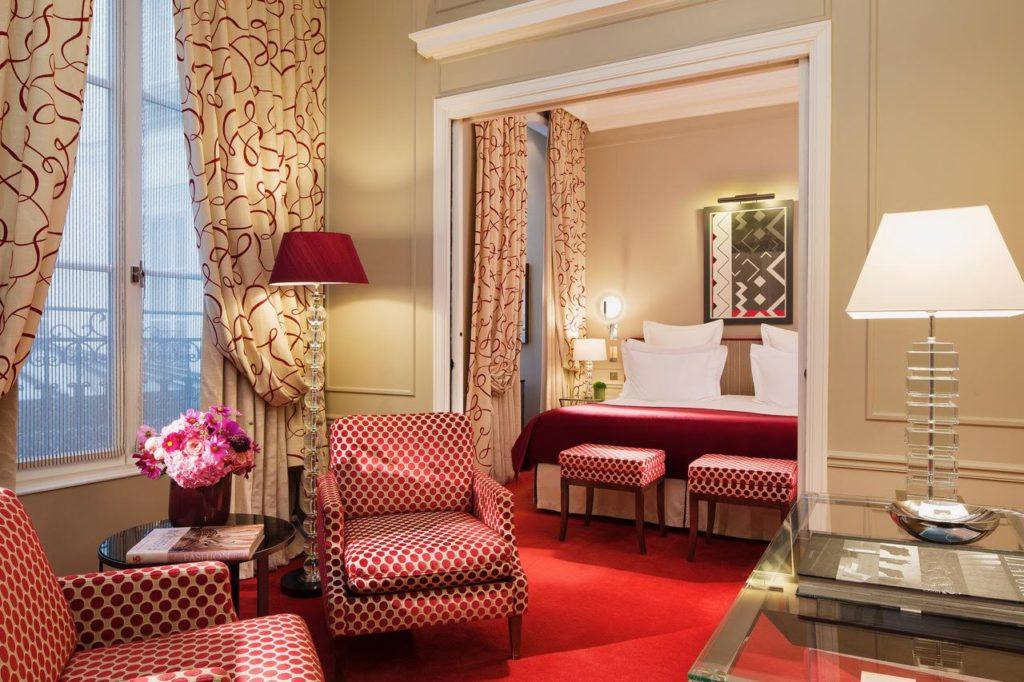 L'hôtel Le Burgundy et ses chambres